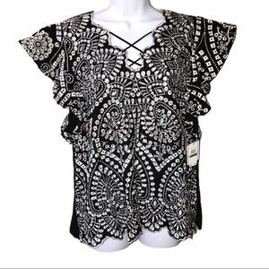 Laundry by Shelli Segal Peasant Blouse - Large
